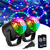 Best Disco Lights - CCJK Disco Party Ball Lights, Sound Activated Party Review