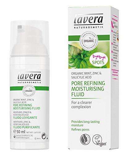 Lavera Refinamiento de poros Hidratante Fluid-Menta, Zink & ácido salicílico-Refina los poros-Vegan Orgánica Cuidado de la piel Set Natural & innovador cosméticos Set 50ml
