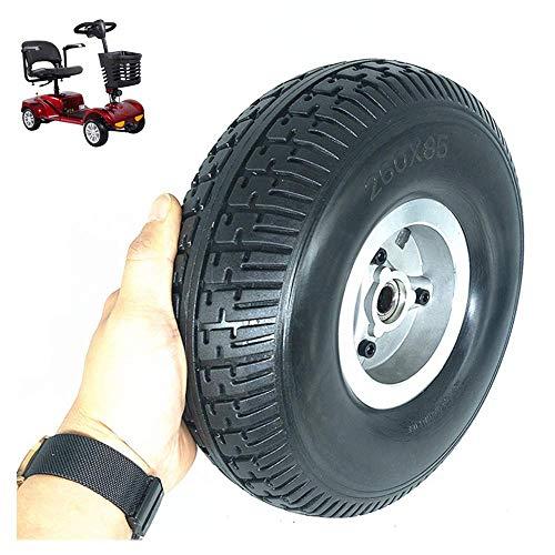 LNDDP 10-Zoll-Vollreifen Explosionsgeschützte Räder, 4.10/3.50-4 rutschfeste, verschleißfeste, pannensichere Reifen, geeignet für ältere Motorroller/Dreiräder