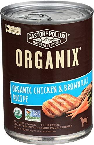 Organix Organic Chicken Brown Rice 12 7 oz Canned Dog Food product image