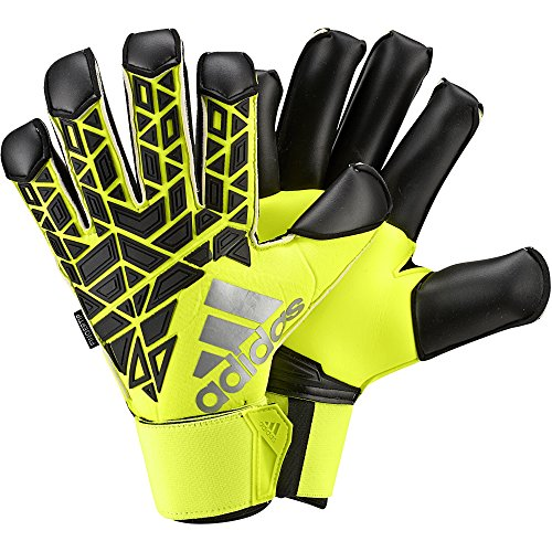 adidas Erwachsene Torwarthandschuhe ACE Trans Fingertip, solar yellow/Black/Semi solar yellow, 11.5