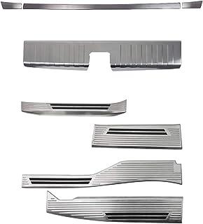サムライプロデュース ホンダ N-VAN リアバンパーステップガード & ラゲッジスカッフ & スカッフプレート 保護パーツセット シルバーヘアライン