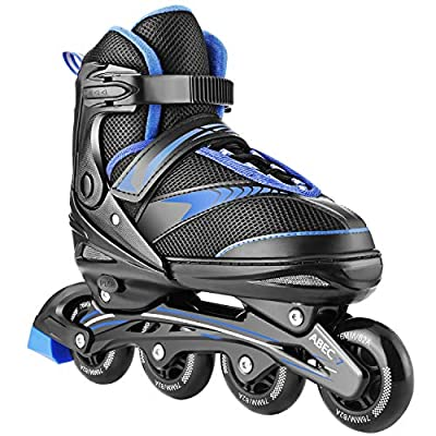 Hikole Adjustable Inline Skates Adults Teens, Inline Skates for Men Roller Skates for Women, Safe and Durable Outdoor Roller Skates Blades for Girls and Boys, Man and Lady Skate