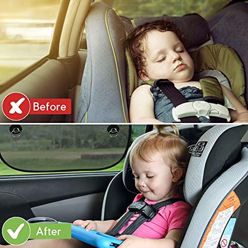 FRECOO Sonnenblende Auto Baby, Universelle Sonnenschutz Auto Kinder Seitenscheibe UV Schutz mit Saugnäpfen für Baby, Kinder,Haustiere , 51 x 31 cm (2 Stück)