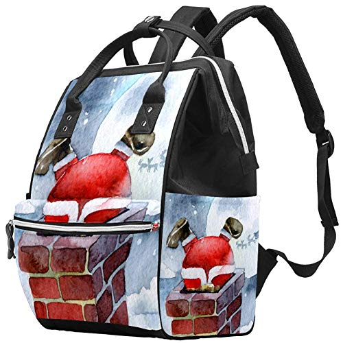 Wickeltasche mit Weihnachtsmann-Motiv, für Klettern, Schornsteine, modisches Design, Weiß