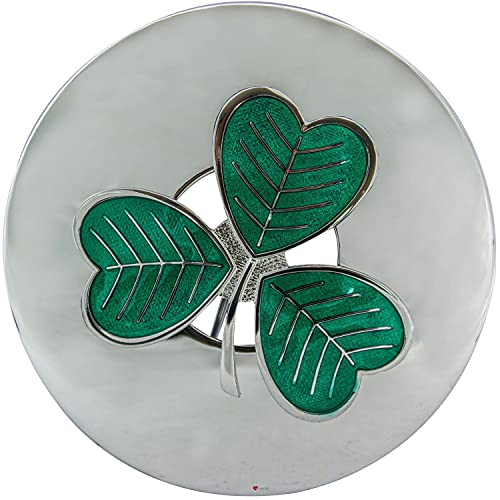 I LUV LTD Signore Plaid Brooch Fly Trifoglio Irlandese 3 Leaf Clover Verde Smalto Verde Cromo