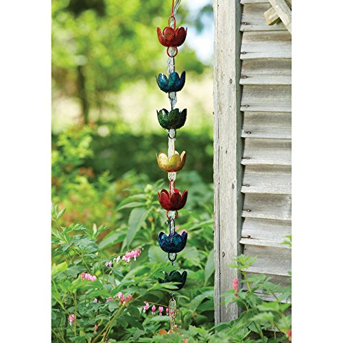 Ancient Graffiti ANCIENTRCLILMIR Lily Multicolor Rain Chain (Set of 1)