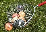 HorTera Apfelsammler - Rollsammler mit plastikfreiem Sammelkorb inkl. Zubehör