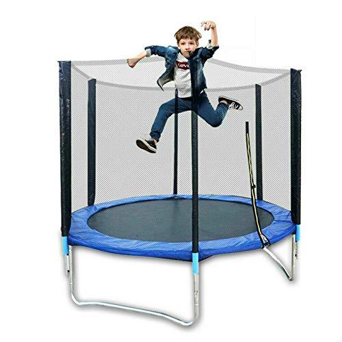 Trampolín de jardín para exteriores,Juego de cama elástica para exteriores,mini trampolín para fitness,Trampolín infantil,Trampolín para niños con niños pequeños (183cm de diámetro,300kg carga)
