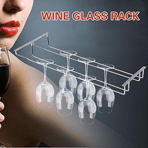 kdheart 35cm/13Wein Glas Rack Aufhängung Halterung für Stielgläser Aufhänger Regal Home Bar