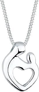 Elli Necklace Women Heart Pendant Elegant in 925 Sterling Silver