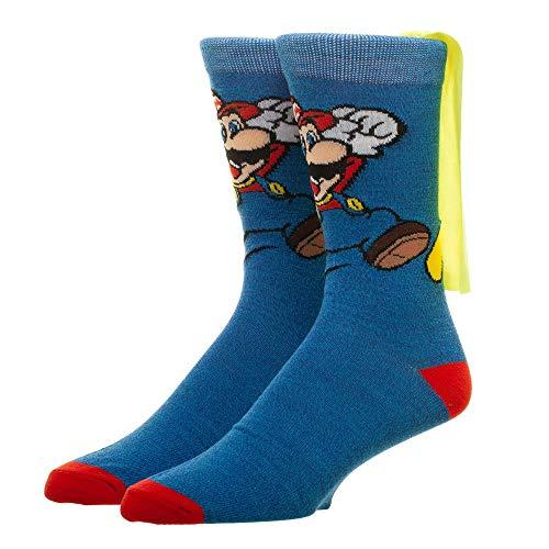 Super Mario Brothers Crew Socks With Cape