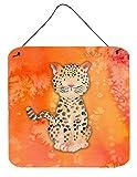 Caroline Tesoros del Leopardo Watercolor Metal impresión, Multicolor, 6Pulgadas x 6Pulgadas