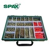 Spax – Xpert-Koffer für Holzschrauben & Ankerbolzen–847sortierte Schrauben und Sortierbox