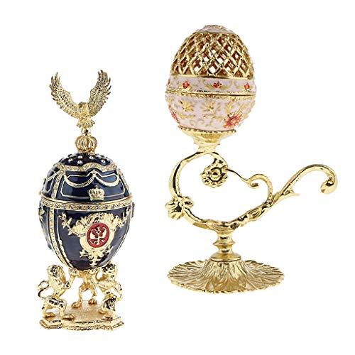 Piernas 2pcs Real Caso Huevos de Pascua Caso de Caja de la joyería del sostenedor de la joyería Baratijas Organizador