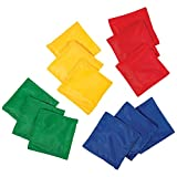 Franklin Sports 5' x 5' Nylon Bean Bags (Set of 12) - Perfect for use in schools