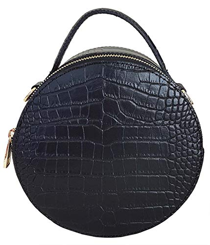 ATELIERS FLORENTINS Women's Cross-Body Bag Black Croc Black