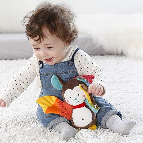 Fehn 067613 Spieluhr Fledermaus – Aufzieh-Spieluhr mit herausnehmbarem Spielwerk zum Aufhängen, Rascheln und Greifen, für Babys und Kleinkinder ab 0+ Monaten - 4