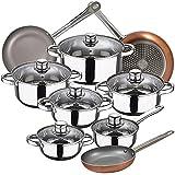 Bateria de cocina 12 piezas SAN IGNACIO Cassel, acero inoxidable,...