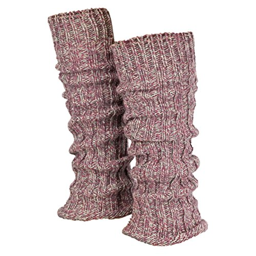 Piarini 1 Paar Grobstrick Stulpen Damen Bein - warme Winter Beinstulpen - One-Size Wolle Multicolour-rose