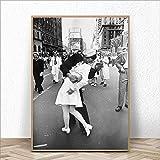 DeXin Leinwand und Vintage Poster Kuss drucken auf Nordic