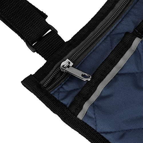 Multifuncional, Bolsas de almacenamiento para sillas de ruedas, Bolsa lateral para sillas de ruedas, Diseño de línea ligera, para hombres, mujeres, discapacitados, ancianos para el hogar /(navy blue)