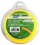 Riegolux 107638 Hilo Desbrozadora Nylon Redonda, Amarillo, 3 mm x 54 m