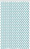 ABAKUHAUS Wal Schmaler Duschvorhang, Kleiner Fisch für Baby Kids, Badezimmer Deko Set aus Stoff mit Haken, 120 x 180 cm, Hellblau Weiß