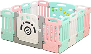 Baby Play Kids Safety Playpen Baby Safety Fence Yard Home Indoor OutdooActivity Center 14 - Panel (No Balls)