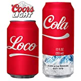 Beersy Can Cover Silicone Sleeve Hide a Beer to Look Like Soda, Fits COORS Light, Novelty Alcohol Disguise for Outdoor Events (Loco Cola)