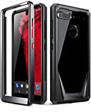 Essential Phone PH-1 Case, Poetic Guardian [Revised Version] [Scratch Resistant] [360 Degree Protection] Full-Body Rugged Clear Bumper Case with Built-in-Screen Protector for Essential PH-1 Black
