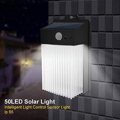STHfficial wandlamp, LED, binnenlamp, wandlamp, met bewegingsmelder, solar, PIR-sensor, lichtsensor, huis, tuin, buitenlicht, waterdicht, gang, 50 leds