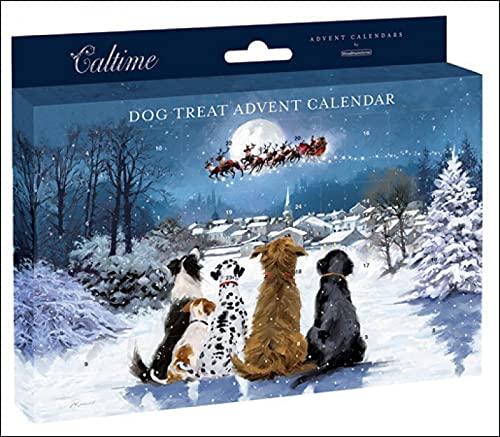 Calendrier de l'Avent traditionnel « Treat for your dog » - 24 portes - Cadeau de Noël pour animal domestique