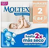 Moltex Premium Comfort Pañales Talla 2 (3-6 kg) - 84 Pañales