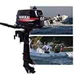 OU BEST CHOOSE Outboard Boat Engine Motor Fishing Inflatable Boat Motor Water Cooling CDI 2 Stroke 6HP Short Shaft System