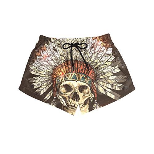 BONIPE - Bañador para mujer, diseño de calavera tribal ind