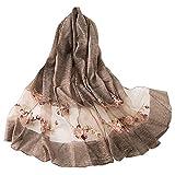 YAOMEI Mujer Bufanda Chales Estolas Satín, Mujer Bordado Mantón Estolas Fulares Bufanda Pañuelo bodas nupcial bridemaids Ropa de noche partido (70.9 * 31.5 pulgadas (180cm * 80cm), Khaki)