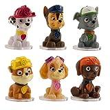 6 figuras decorativas para tartas, con diseño de los personajes de La patrulla...