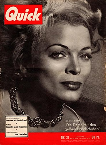 Quick Nr. 31 Jahrgang 7 01.08.1954 Die Dame mit den gelben Handschuhen