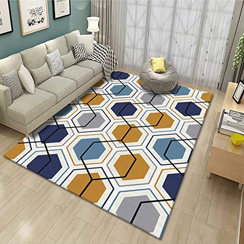 WZJ-CARPET Indoor Large Modern Area Rugs Suitable for Living Room and Bedroom Nursery Kids Girls Room Princess Room Rugs Home Decor Rugs (Color : B, Size : 2.6'x3.9')