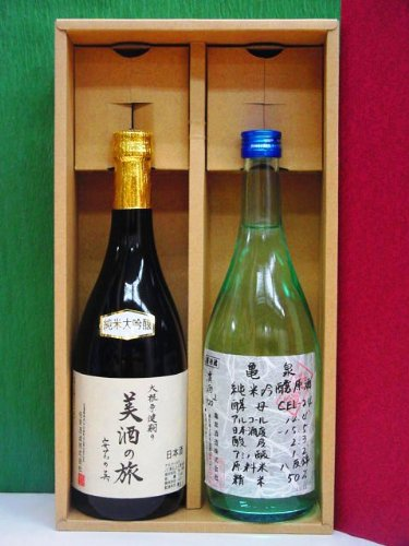 雨後の月【美酒の旅】純米大吟醸&亀泉【CEL-24】純米吟醸生原酒 720ml×2本化粧箱入り