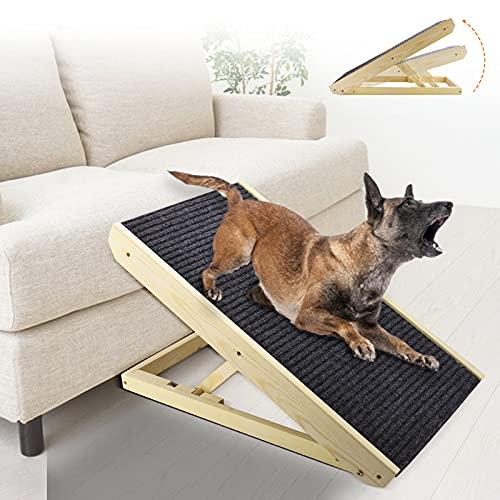 Vogvigo Rampa para Perros Rampa para Gatos Escaleras para Perros Rampa para Autos para Perros Antideslizante Rampa De Madera Ajustable para Mascotas: Muebles 2 En 1 para Gatos Que Se Pueden Rascar