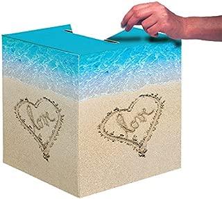 Creative Converting Wedding Card Box, Beach Love