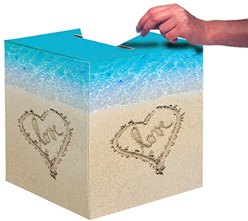 Creative Converting Wedding Card Box, Beach Love