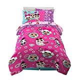 Franco Kids Bedding Super Soft Comforter and Sheet Set with Sham, 5 Piece Twin Size, LOL Surprise
