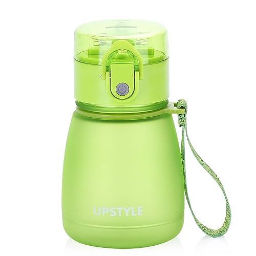Mini botella de agua de plástico con pajita, antigoteo, ideal para deporte y para