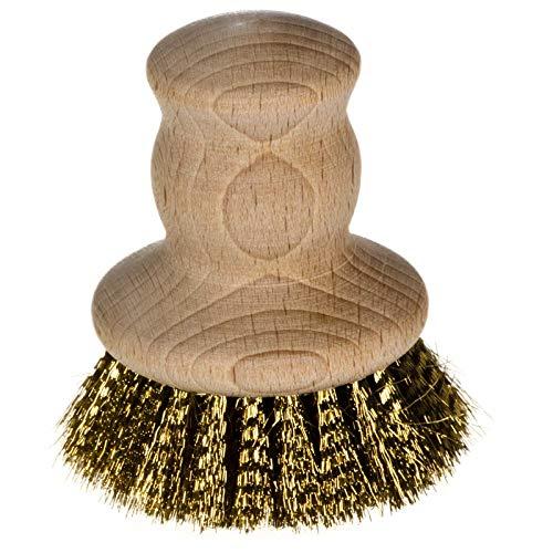 SIDCO Grillbürste Messing Bürste Herdplattenbürste Messingbürste Reinigungsbürste Holz