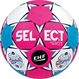 Select Ultimate Replica EC France 2018 de Balonmano, Todo el año, Color Pink weiß Blau, tamaño 1