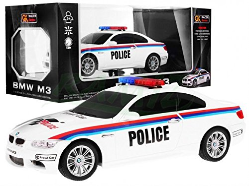 BSD RC Voiture télécommandée M3 Voiture de Police 1:18