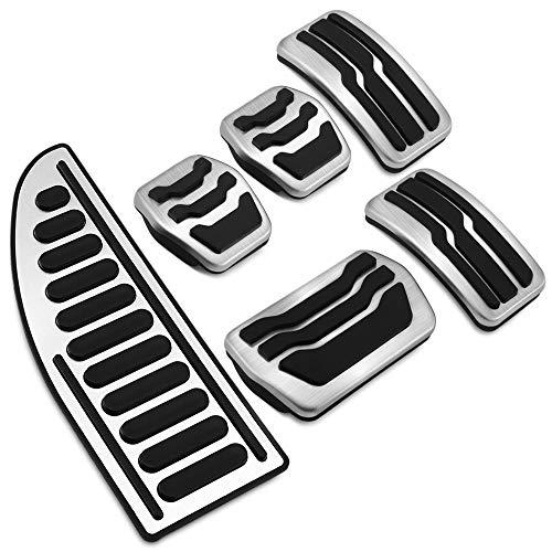 TAABOBO Edelstahl Auto Interieur Rest Pedale Kraftstoff Gas Bremspedal Abdeckung für Ford C-Max CMax S-Max MK2 2011~2019 Zubehör